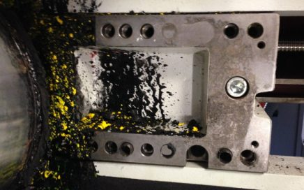 What we want to avoid: Ink soiling in the printing deck